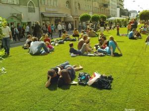 Wo normalerweise 24.000 Autos pro Tag durchdonnern, waren jetzt viele Menschen sehr entspannt unterwegs!