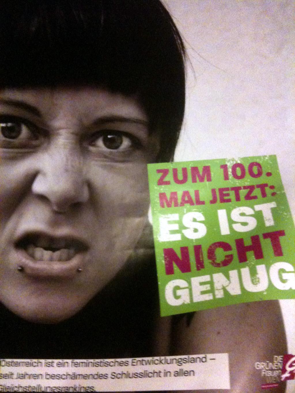 Plakat der GRÜNEN Frauen Wien, 2011